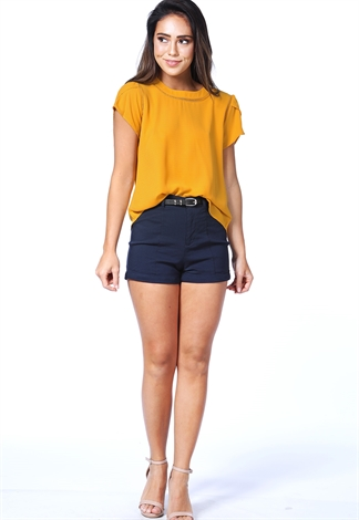Belted Dressy Shorts