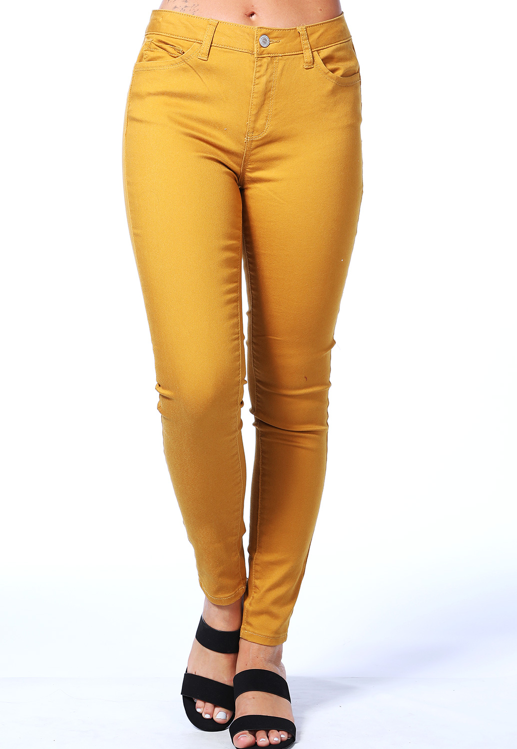 High Rise Push Up Skinny Jeans