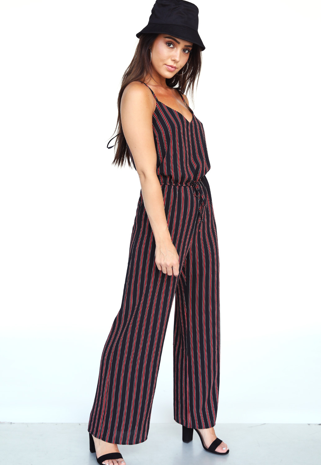 Pinstriped Jumpsuit
