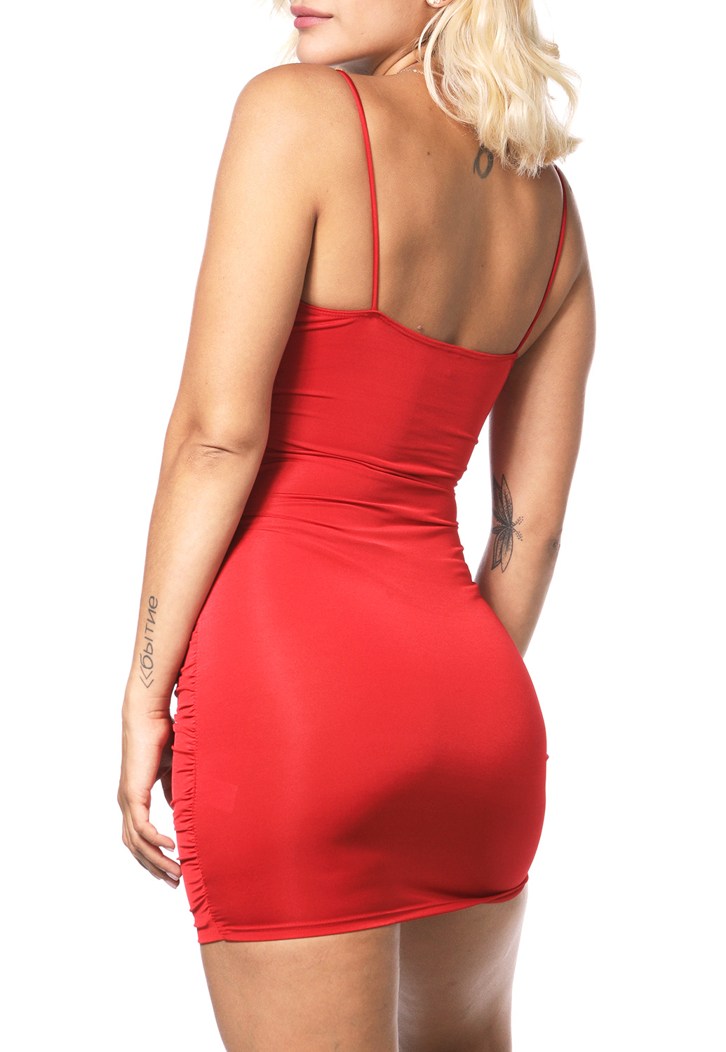 Surplice Bodycon Mini Dress