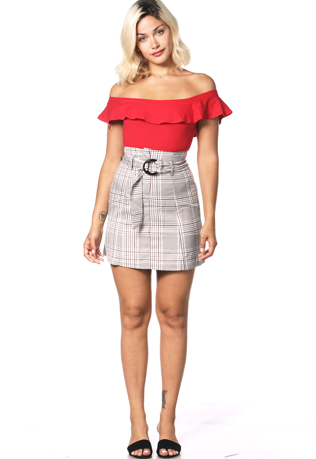 Glen Plaid Dressy Skirt