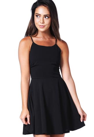Criss-Cross Back Mini Dress