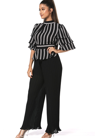 Tie Front Pleated Pants