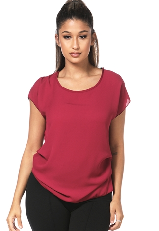 Side Ruched Dressy Top
