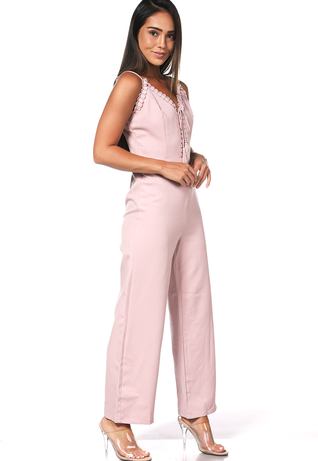 Crochet Trim Jumpsuit