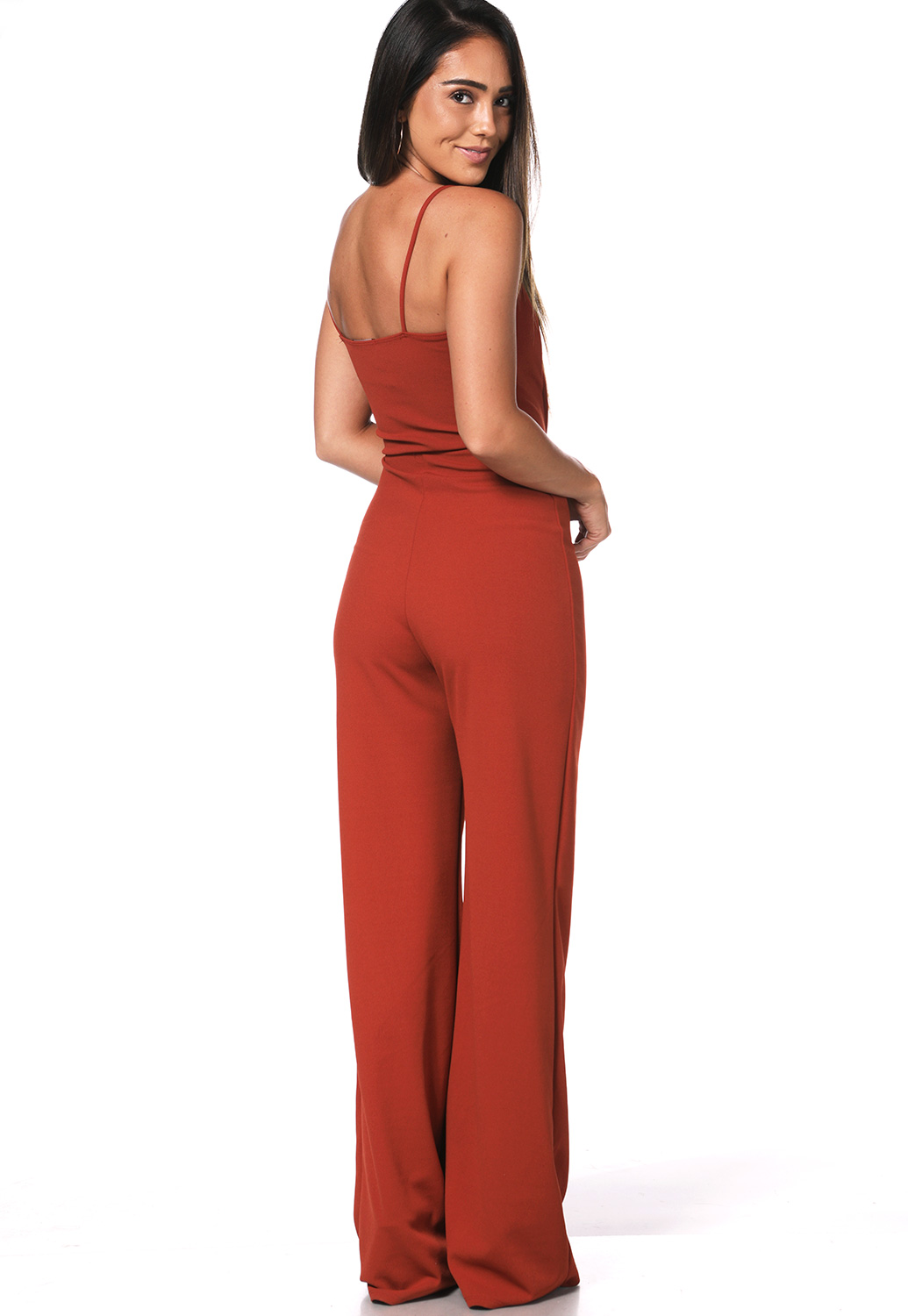 V-Neck Strappy Jumpsuit