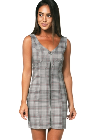 Glen Plaid Mini Dress
