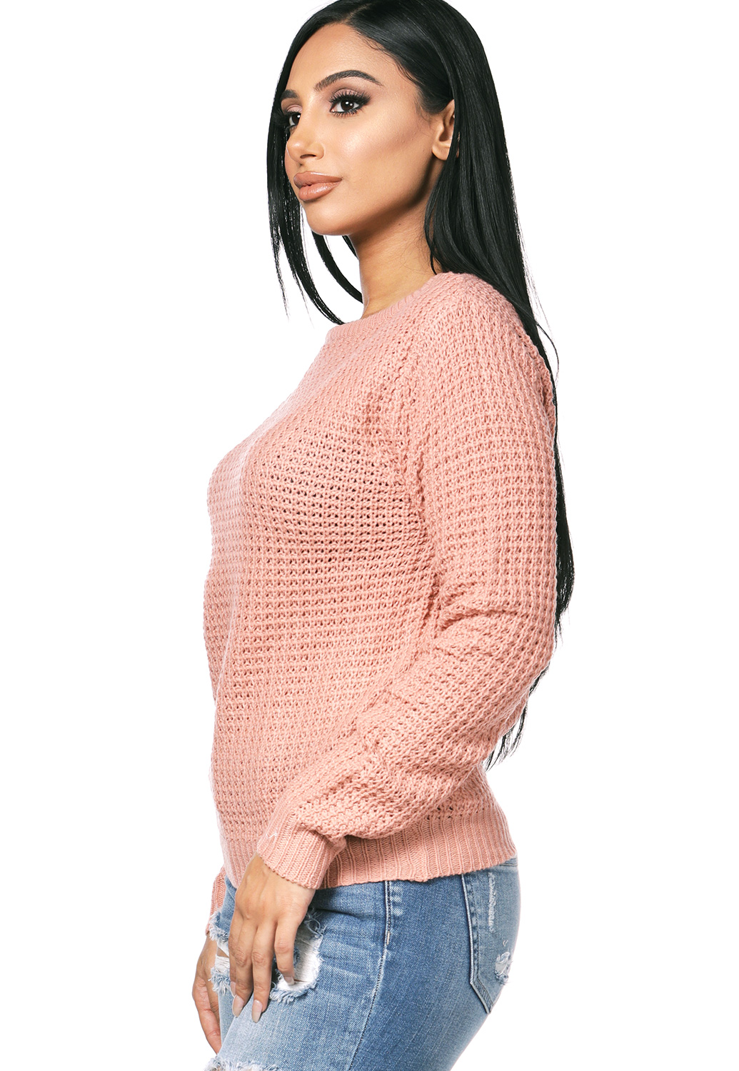 Crisscross-Back  Knit Sweater