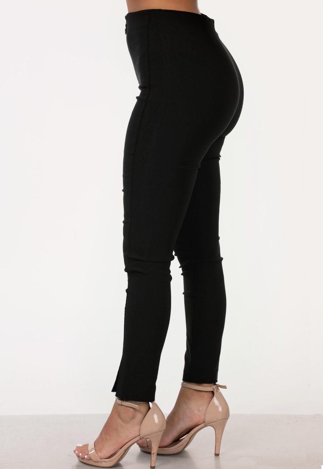 Zip Up Skinny Dressy Pants