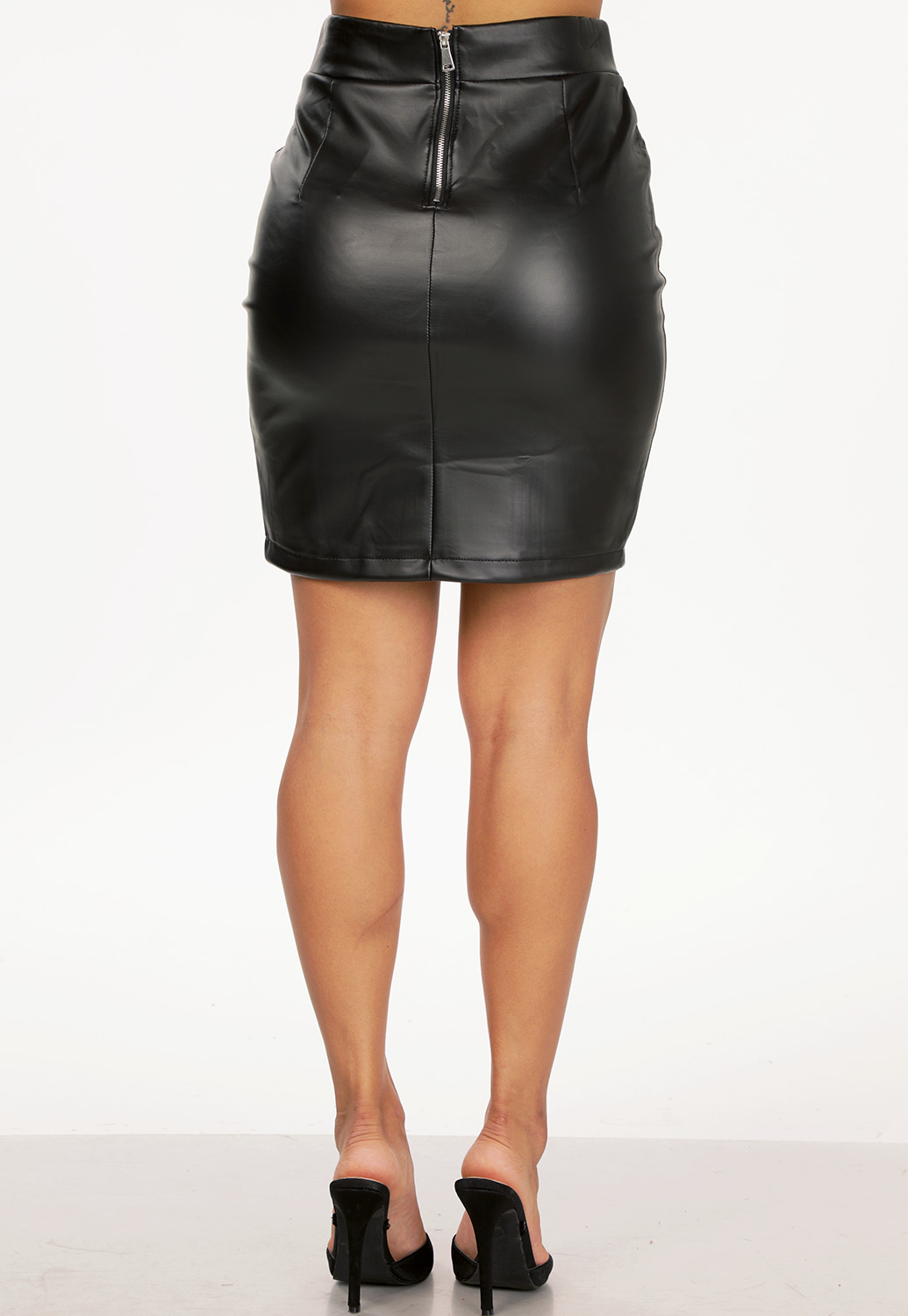 Faux Leather Mini Skirt