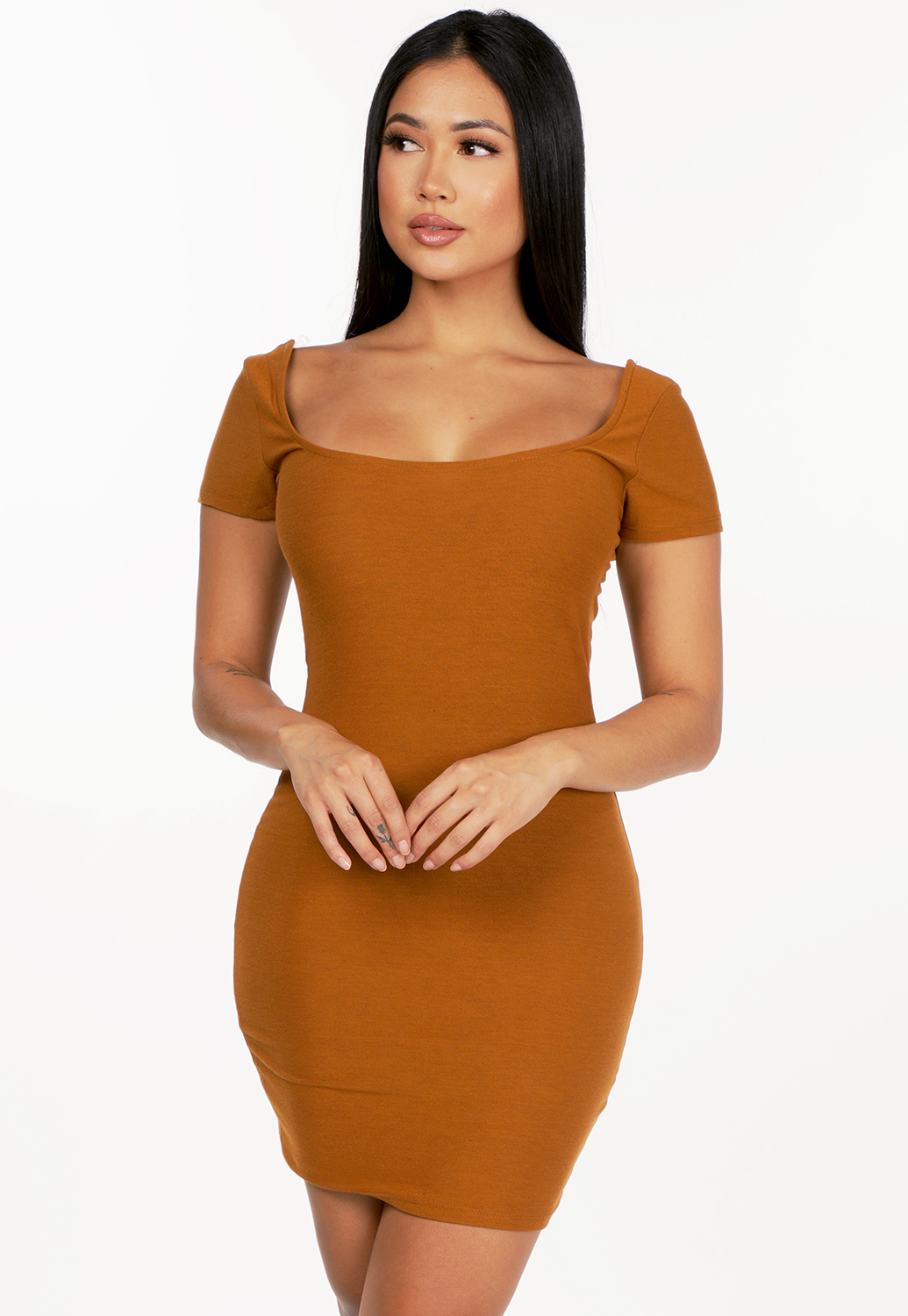Square Neck Bodycon Dress