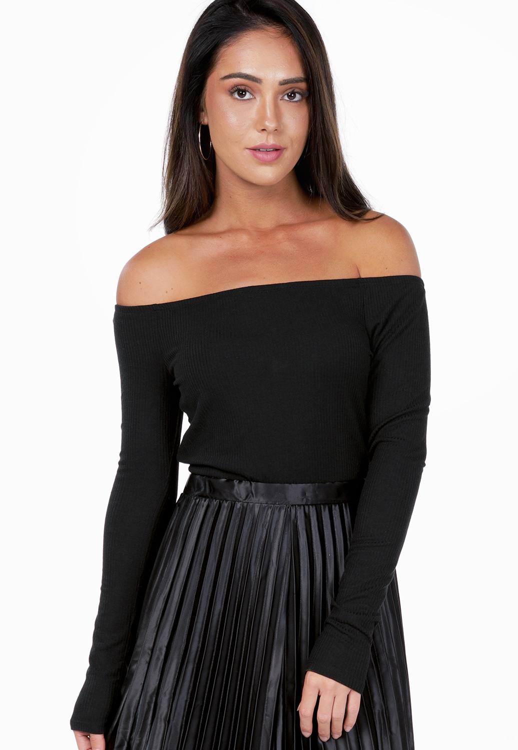 Off The Shoulder Ribbed Bodysuit