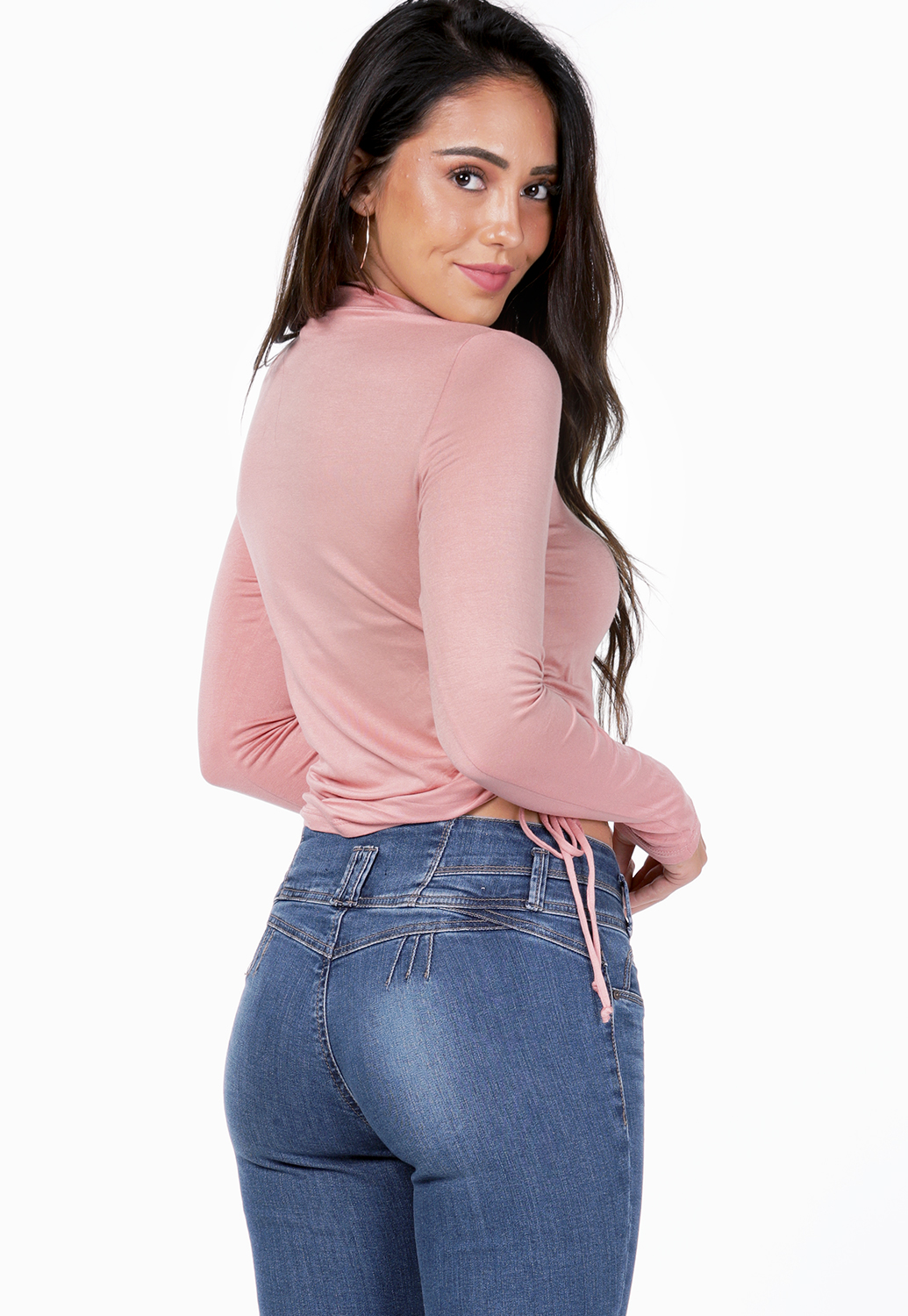 Side Ruched Long Sleeve Top