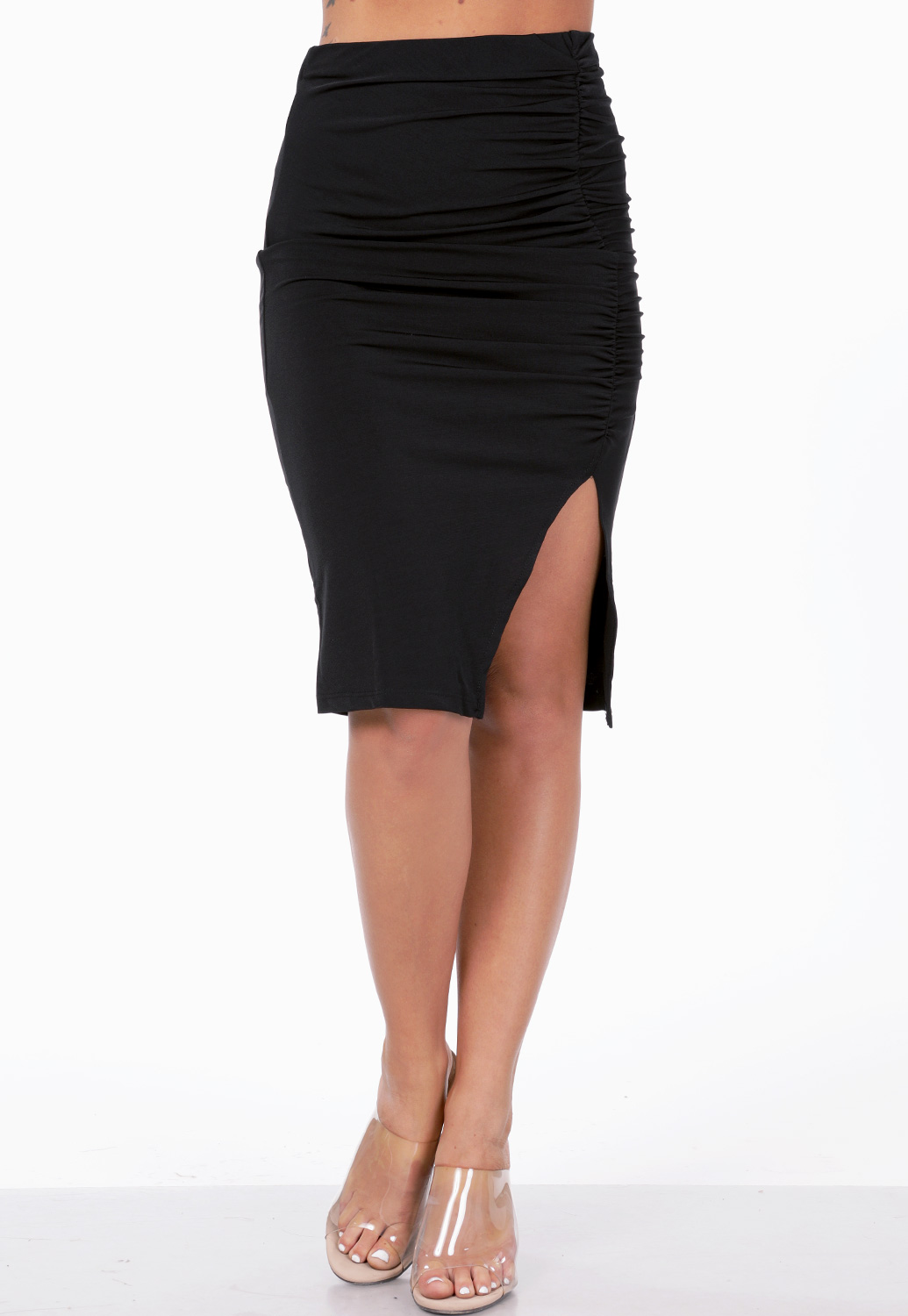 Front Ruched Skirt