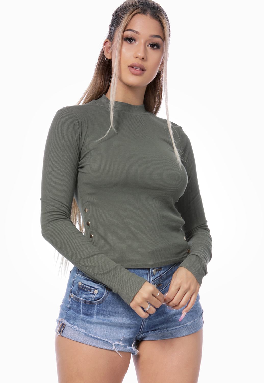 Turtle Neck Long Sleeve Top
