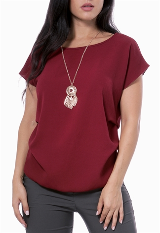 Dressy Top W/Necklace