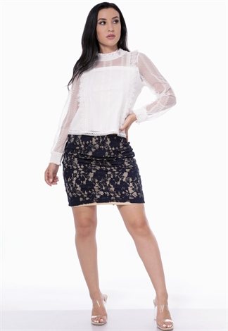 Lace Panel Dressy Skirt