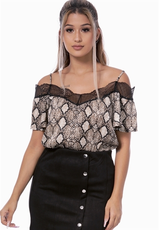 Houndstooth Crop Top