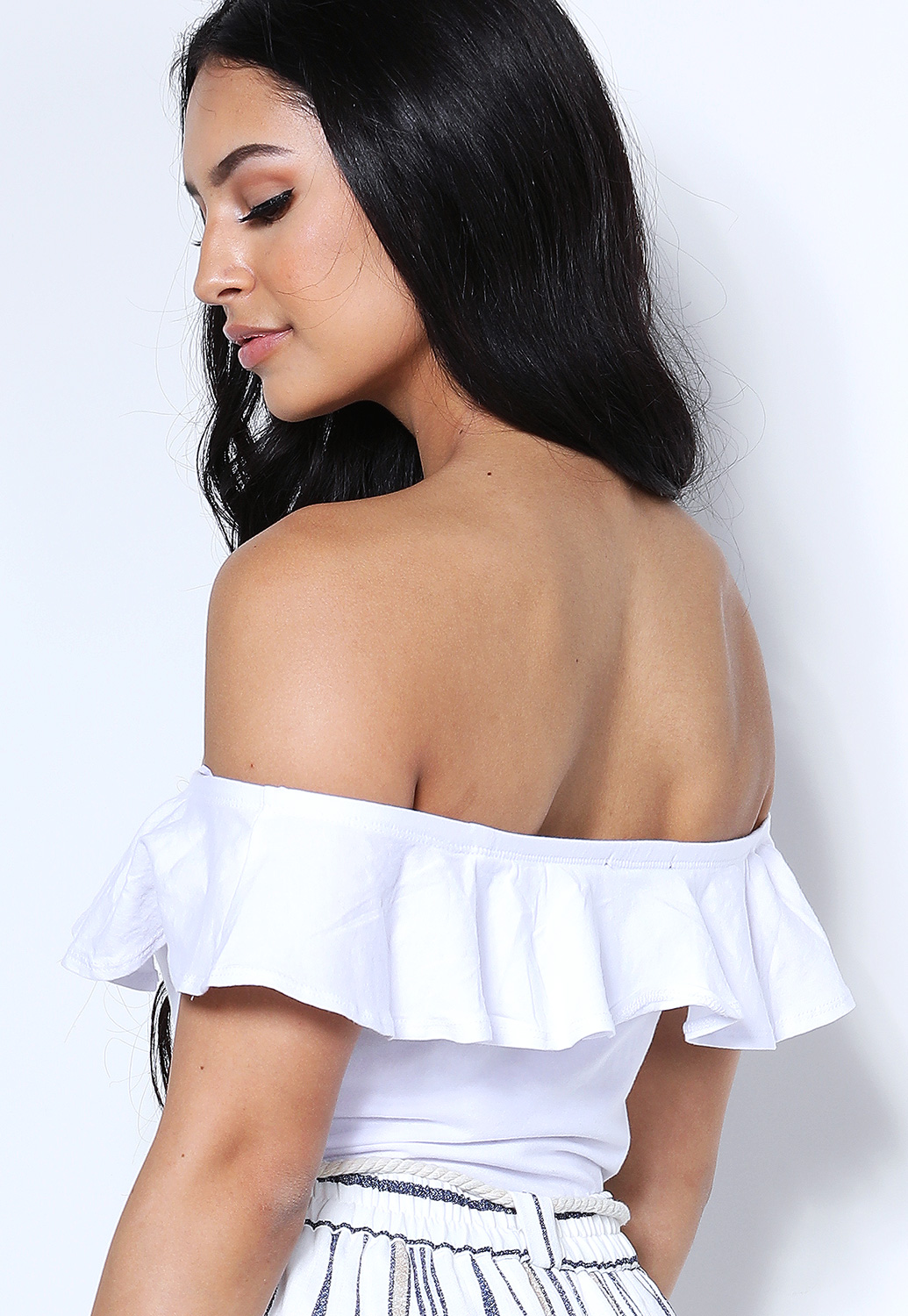 Flounce Off The Shoulder Bodysuit