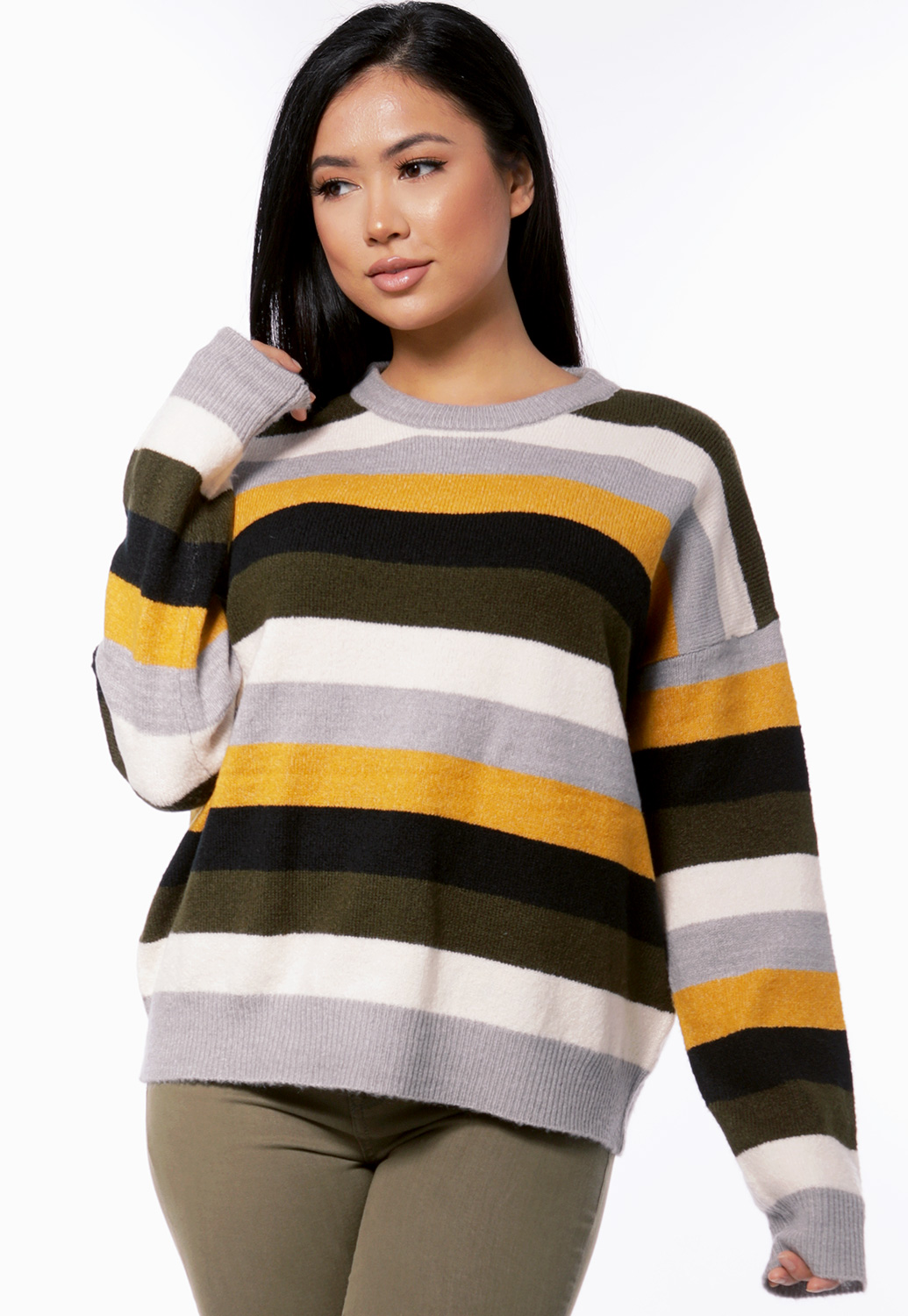 Striped Knit Sweater