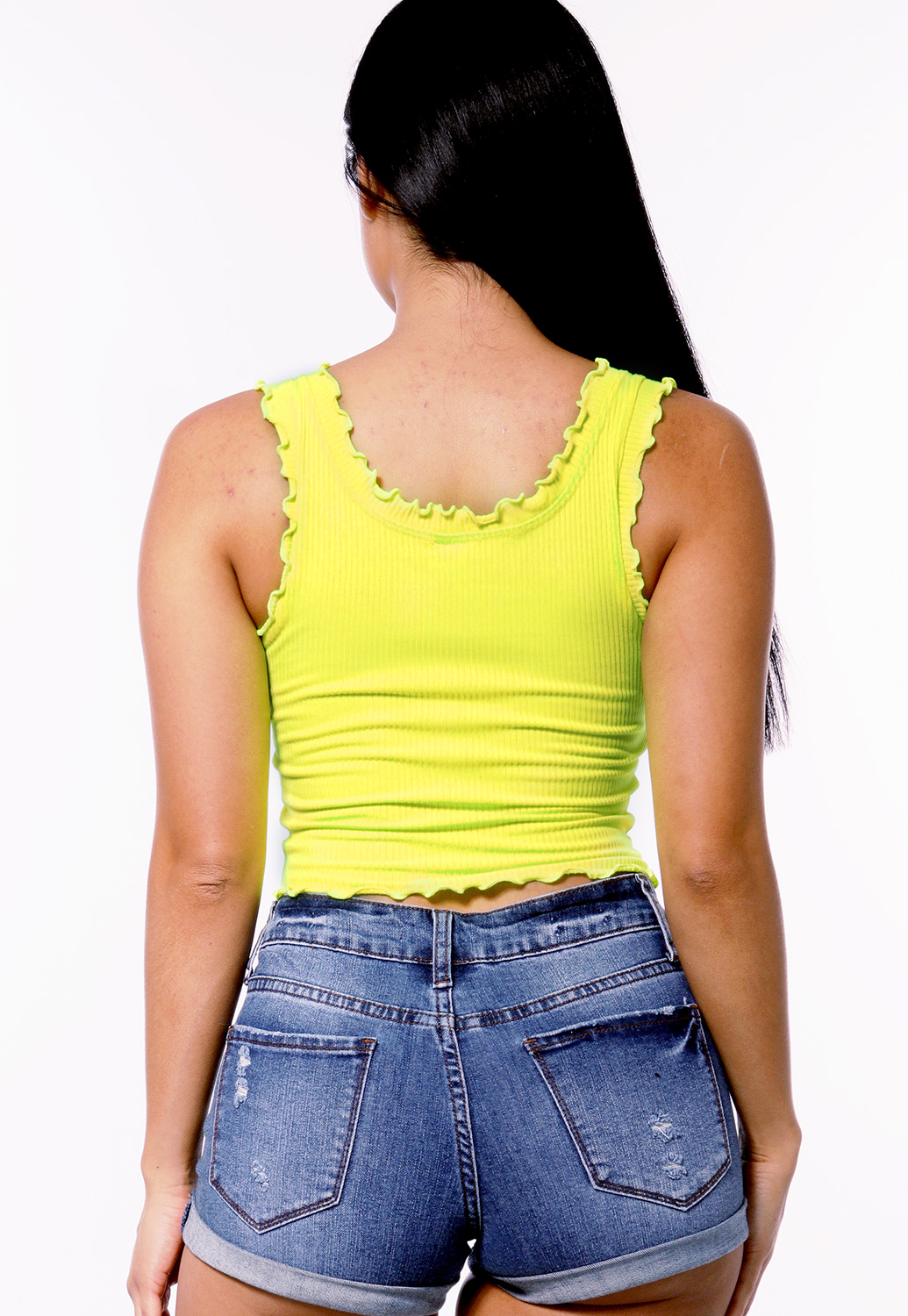Lettuce Edge Ribbed Top