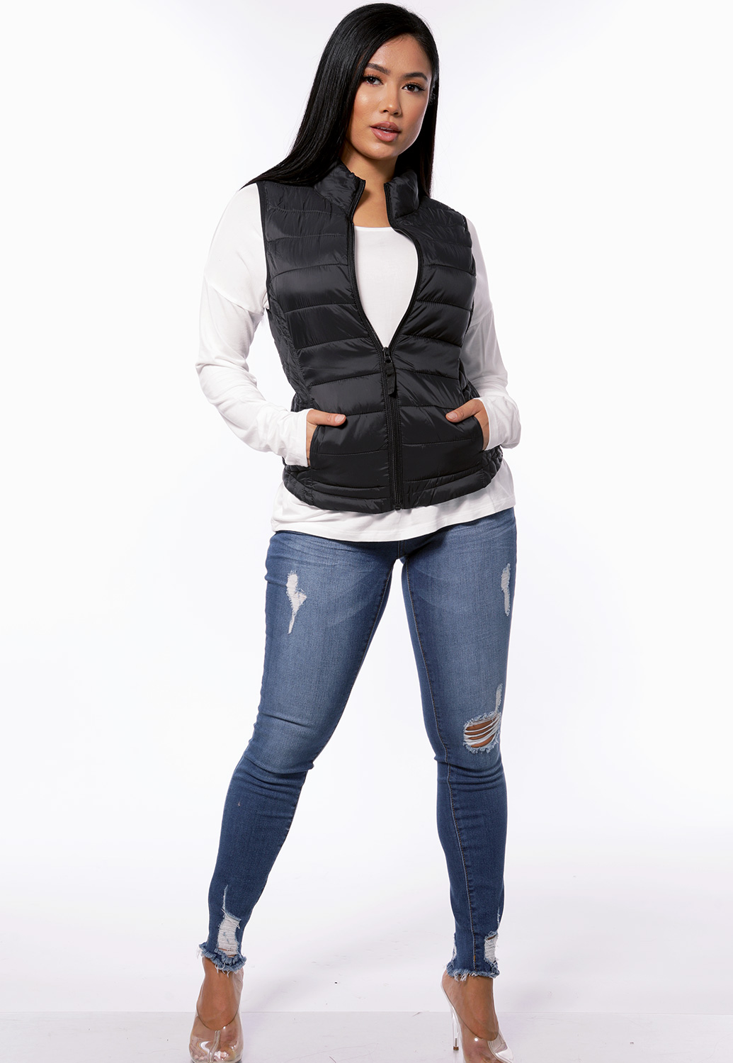 Zip Up Padded Vest
