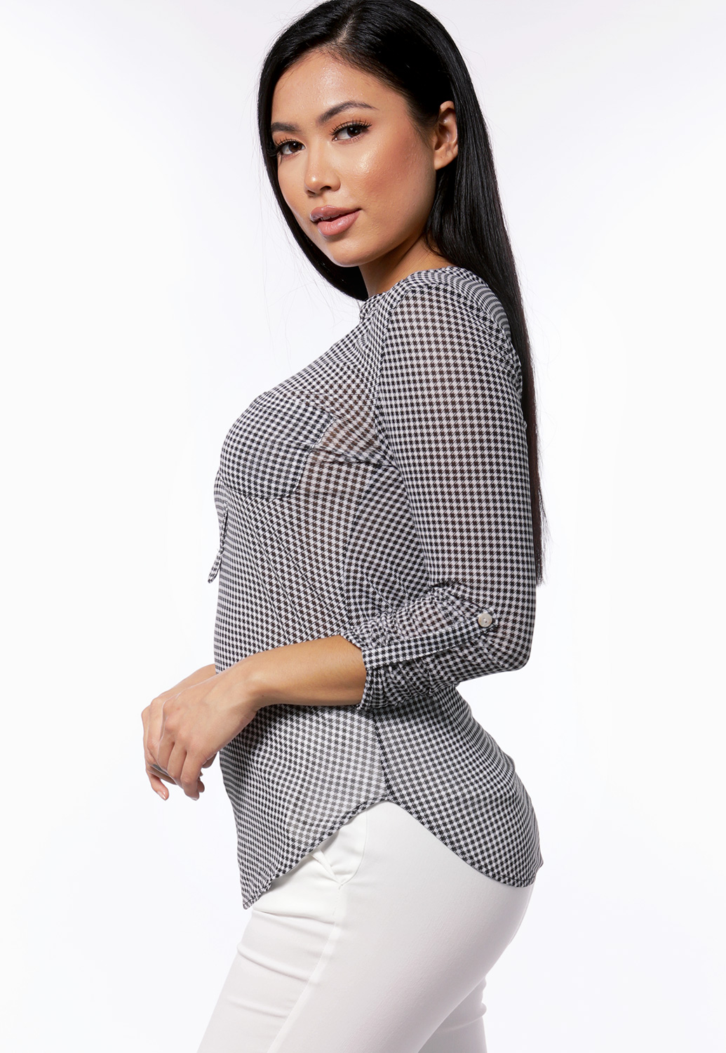 Houndstooth Dressy Top