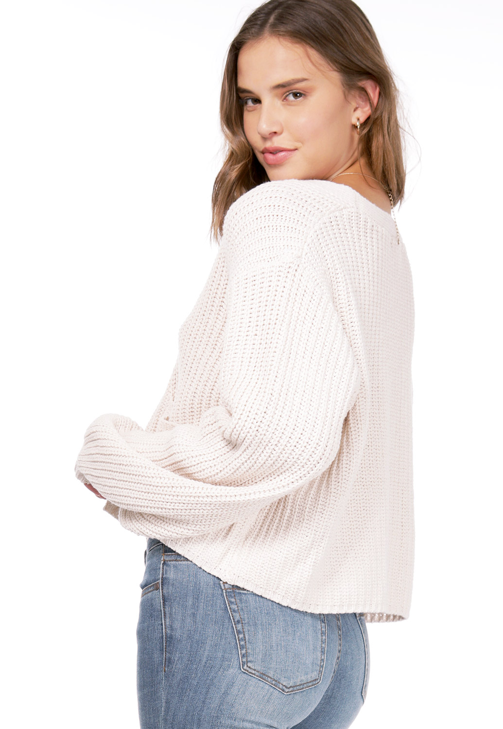 Knit Button Up Sweater