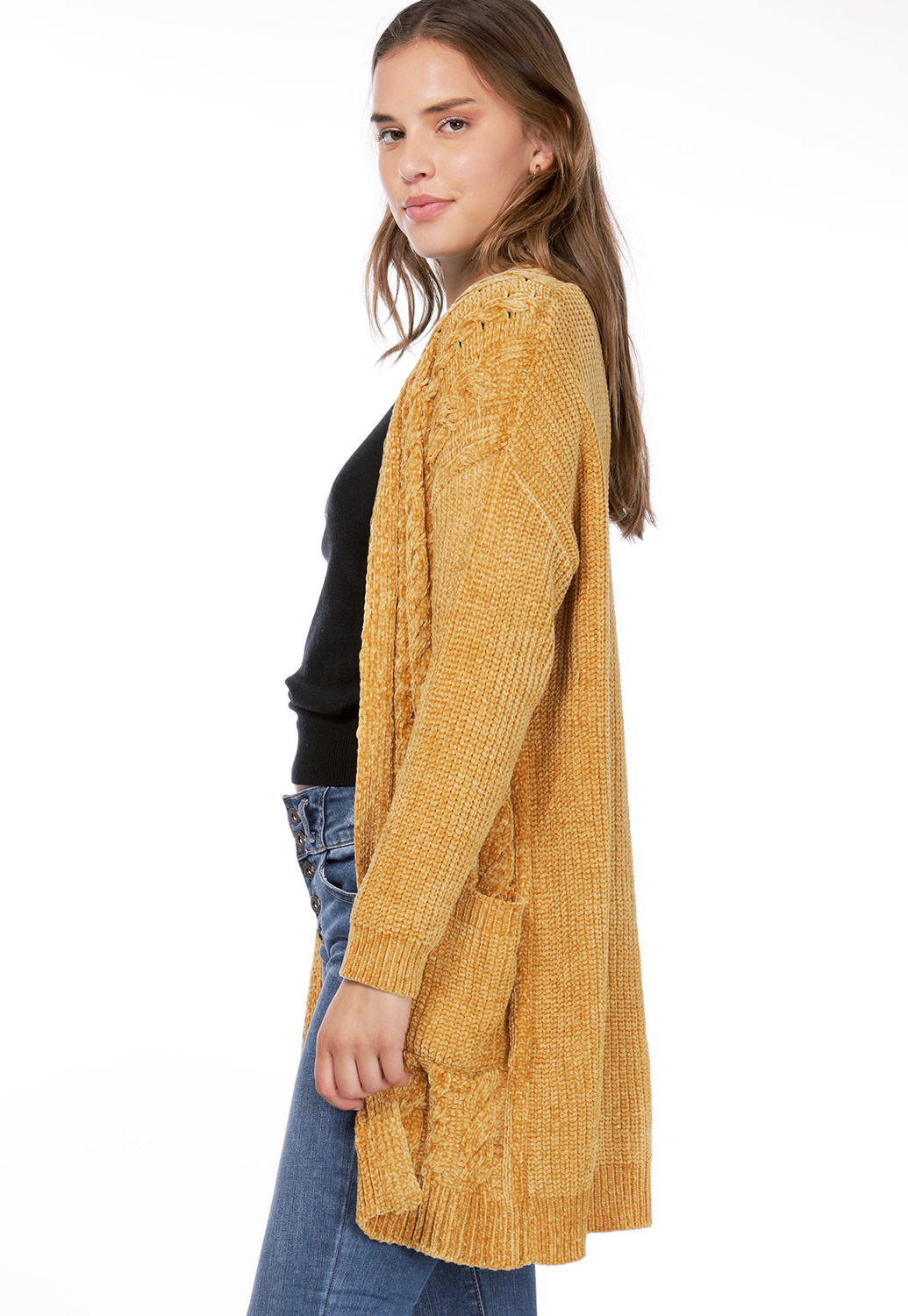 Chenille Open Front Cardigan