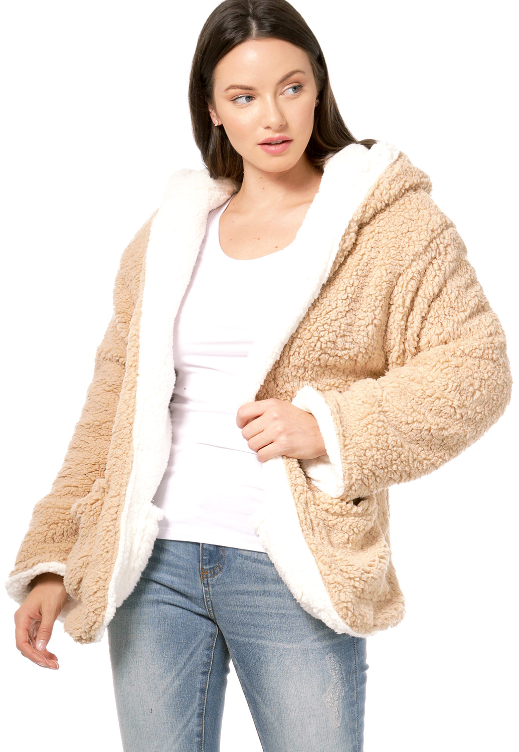 Faux Shearling Reversible Jacket
