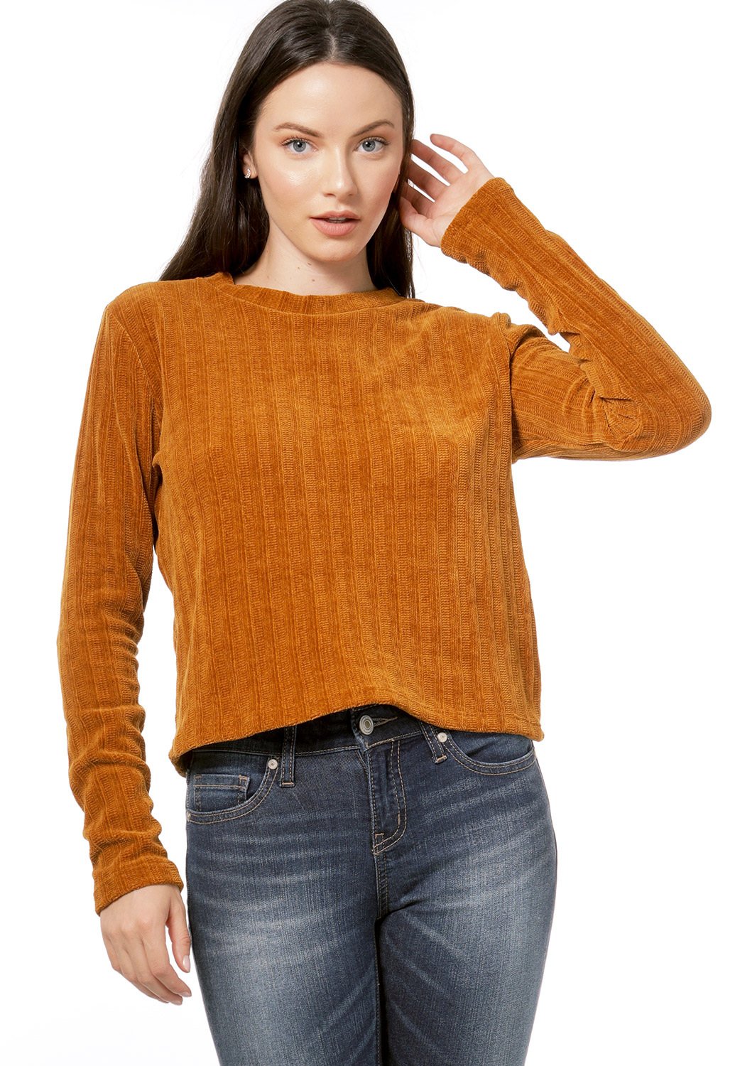 Chenille Round Neck Sweater