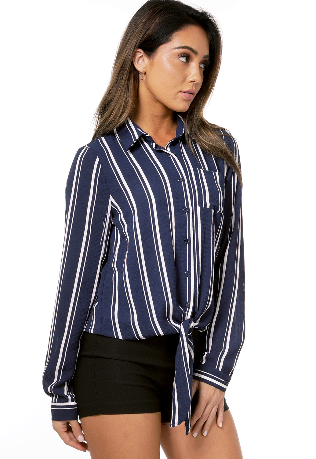 Pinstriped Dressy Top