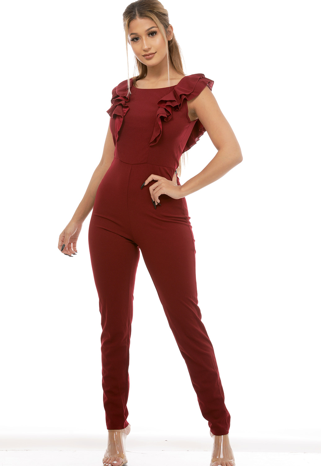 Flare Trim Jumpsuit