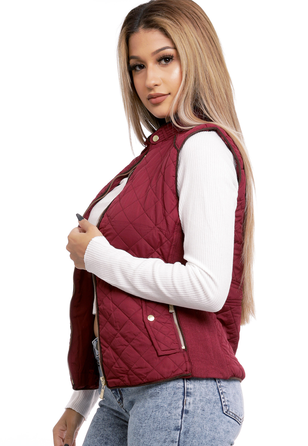 Front Zipper-Up Pocket  Vest