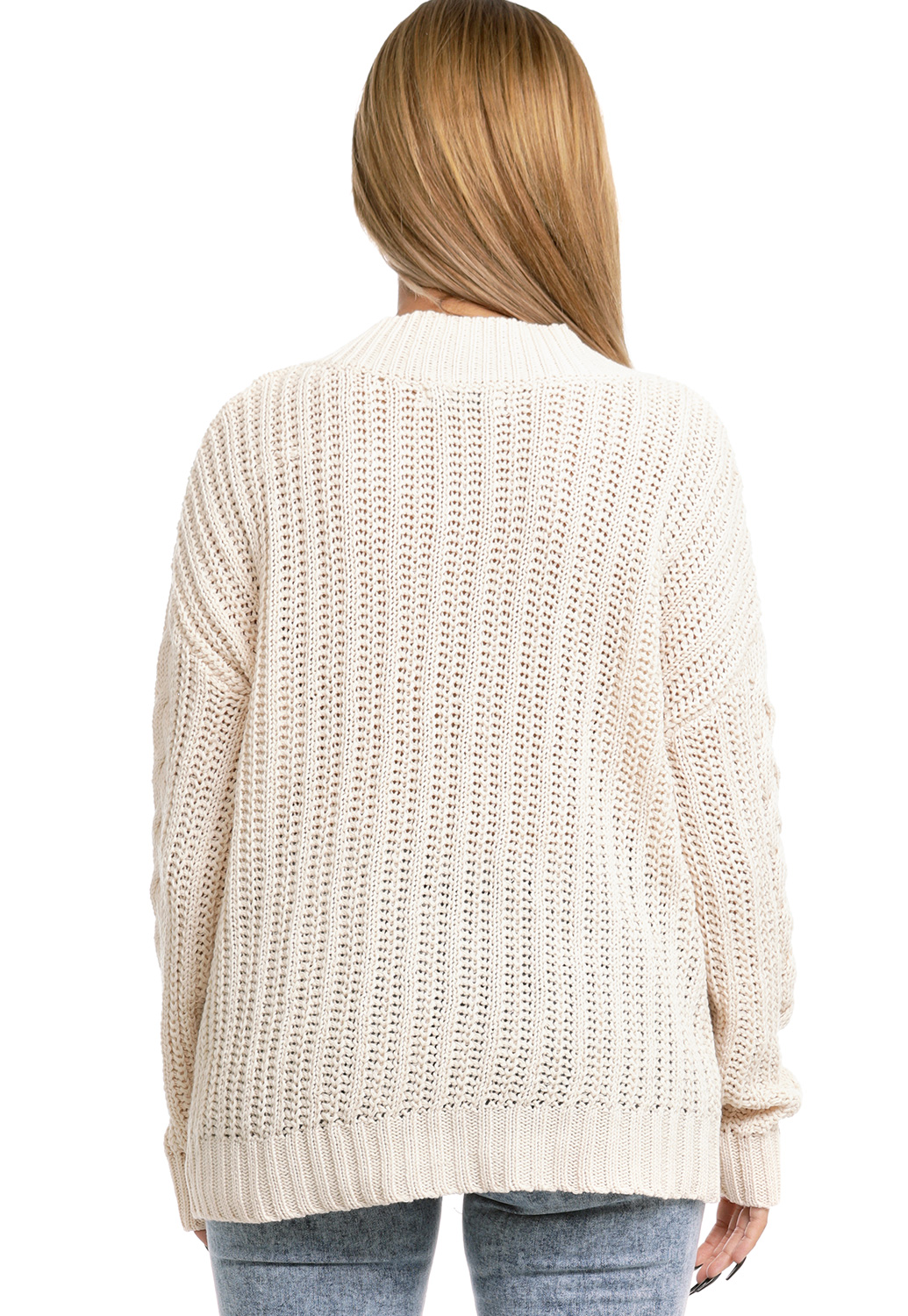 V Neck Crochet Sweater