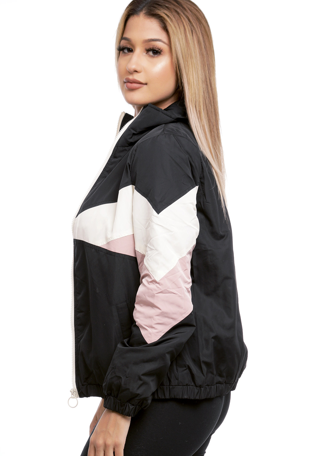 Colorblocked Zip Up Jacket