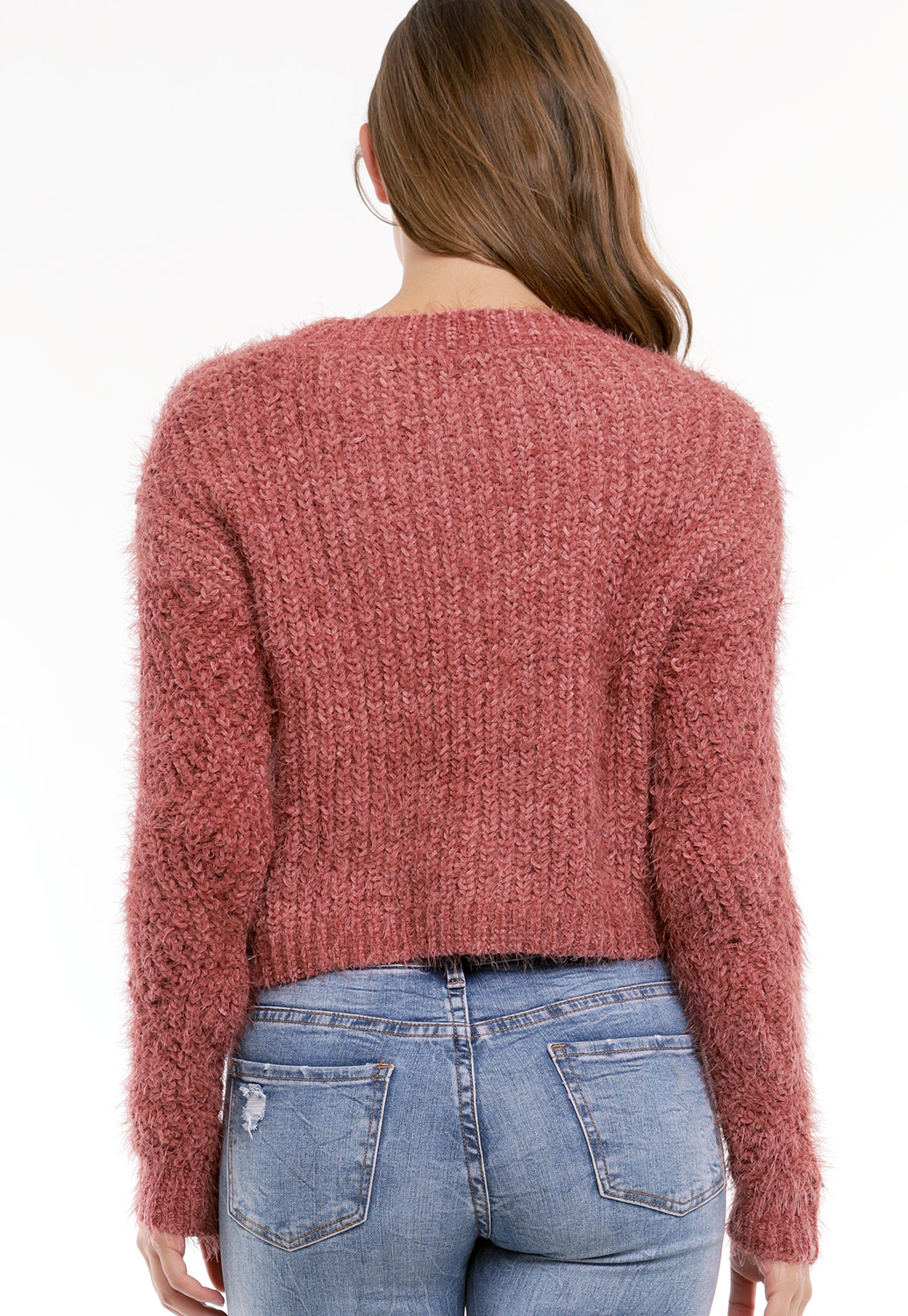 Fuzzy Open Knit Sweater