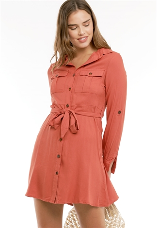 Tie Front Tunic Dress