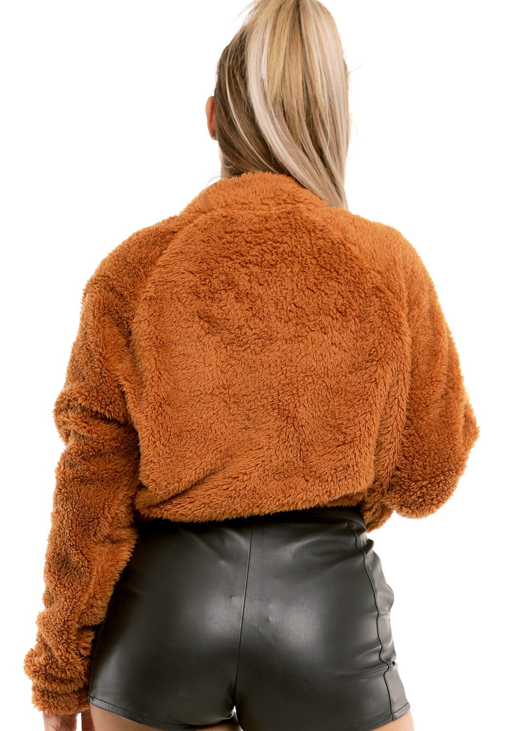 Shearling Half Zip Up Sweater