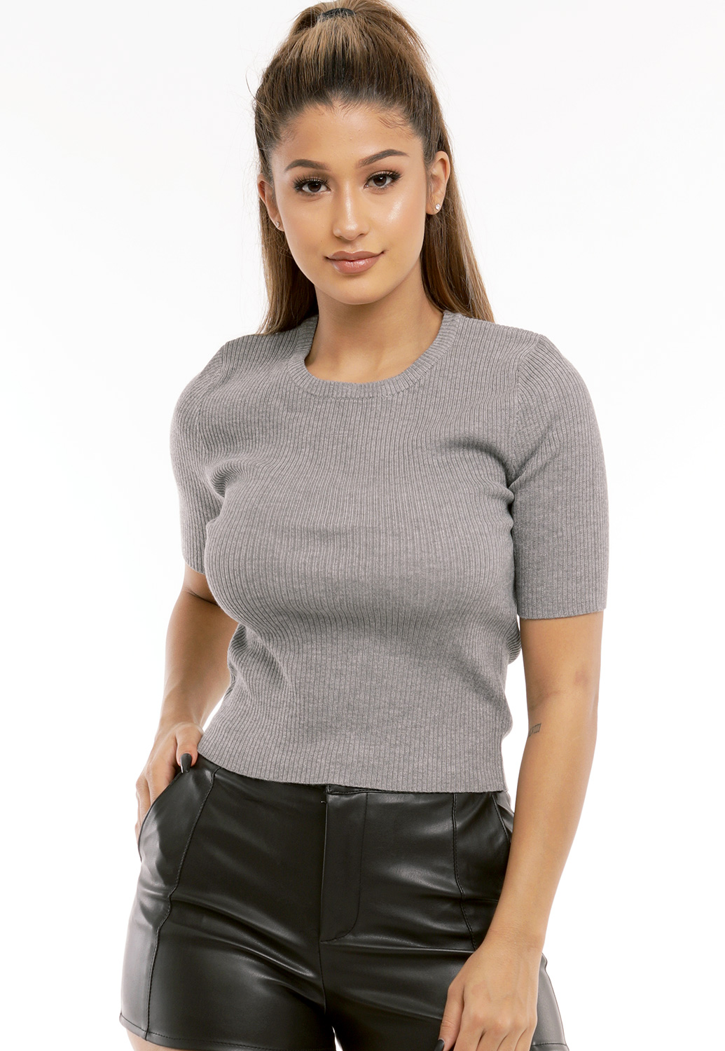 Ribbed Knit Top