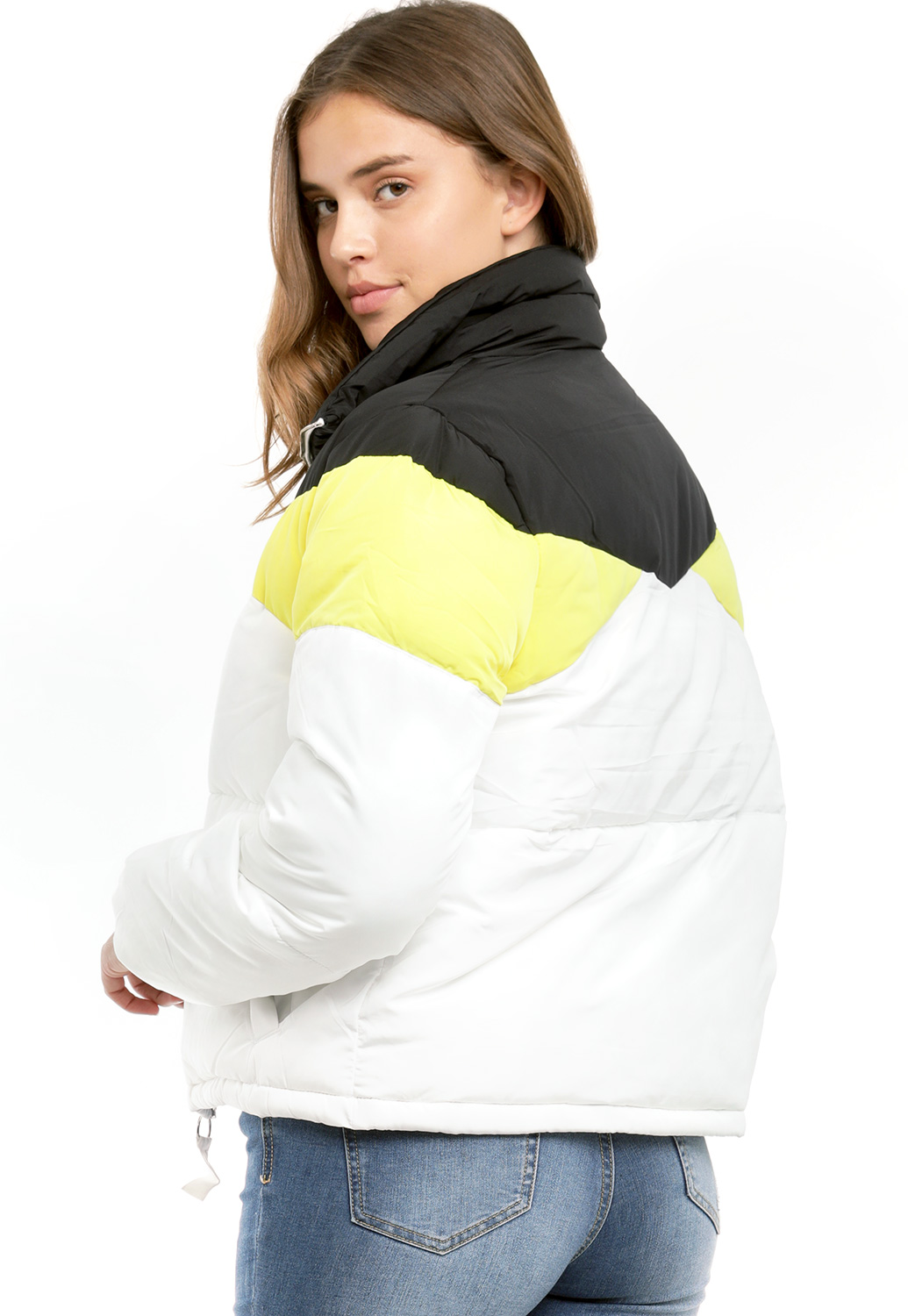 Colorblocked Bomber Jacket