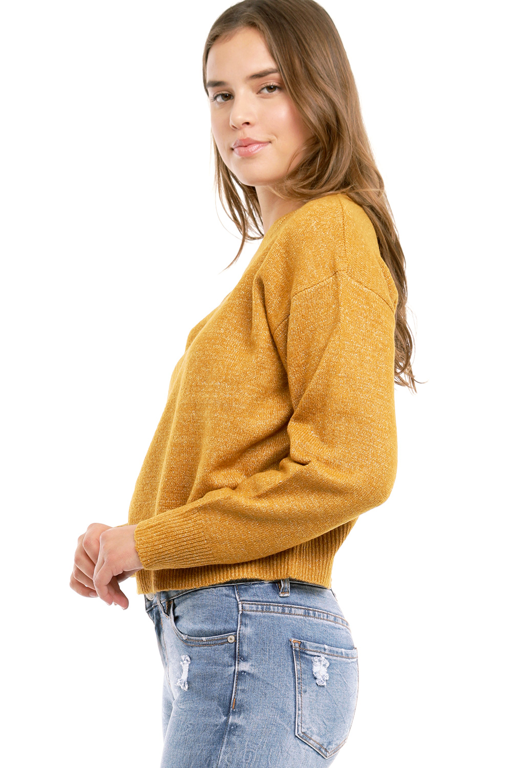 Metallic Knit Sweater