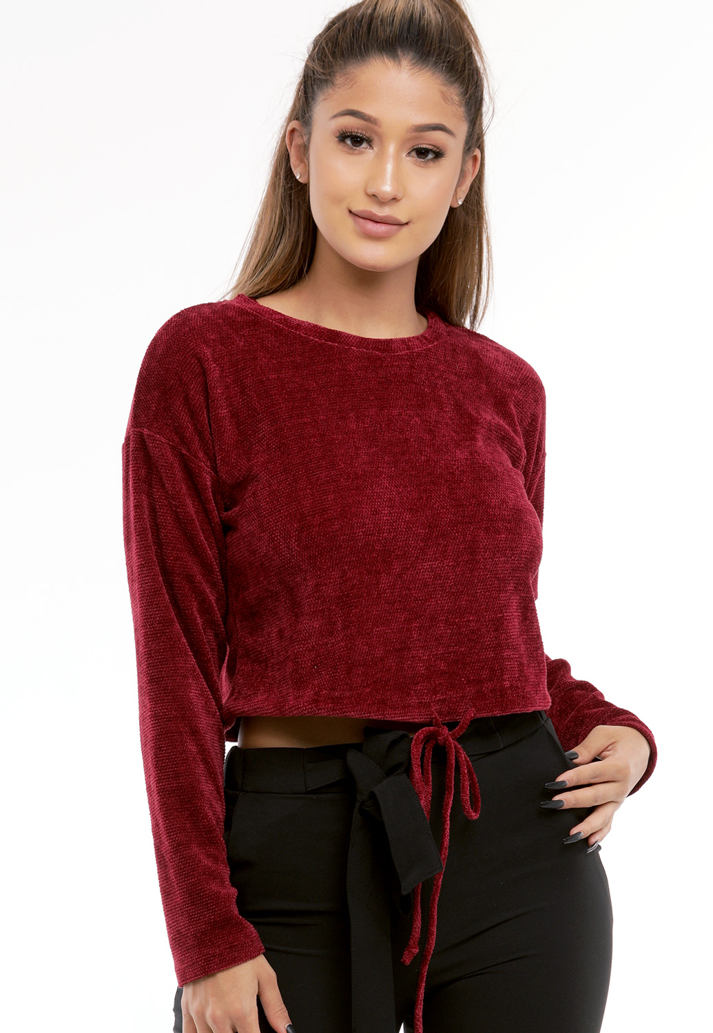 Knit Drawstring Top