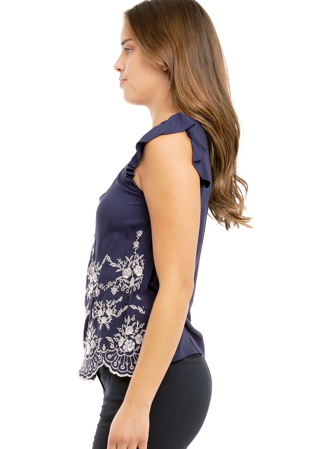 Floral Embroidered Dressy Top