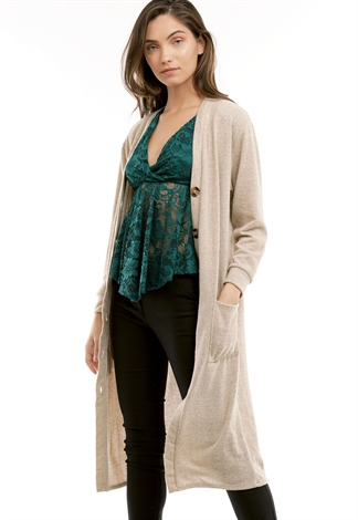Button Up Long Cardigan