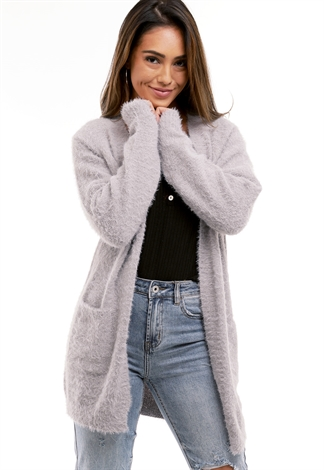 Open Front Fuzzy Cardigan