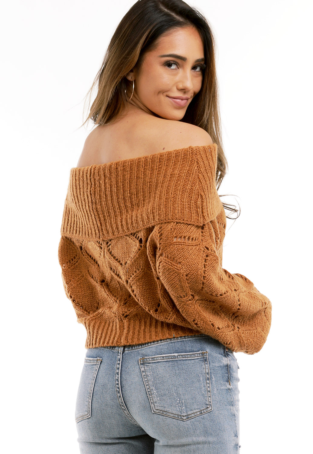 Off The Shoulder Knit Sweater