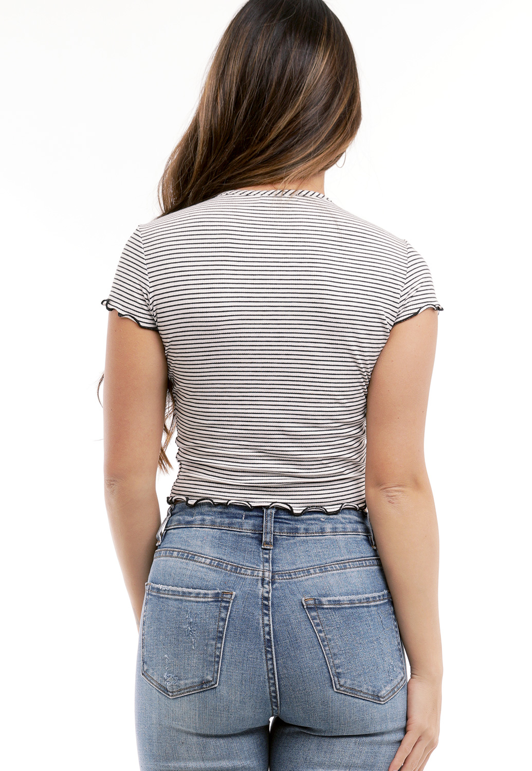 Striped Lettuce Edge Top