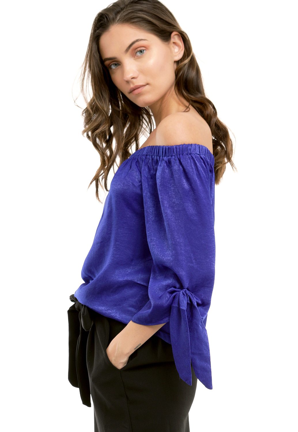 Off The Shoulder Satin Top