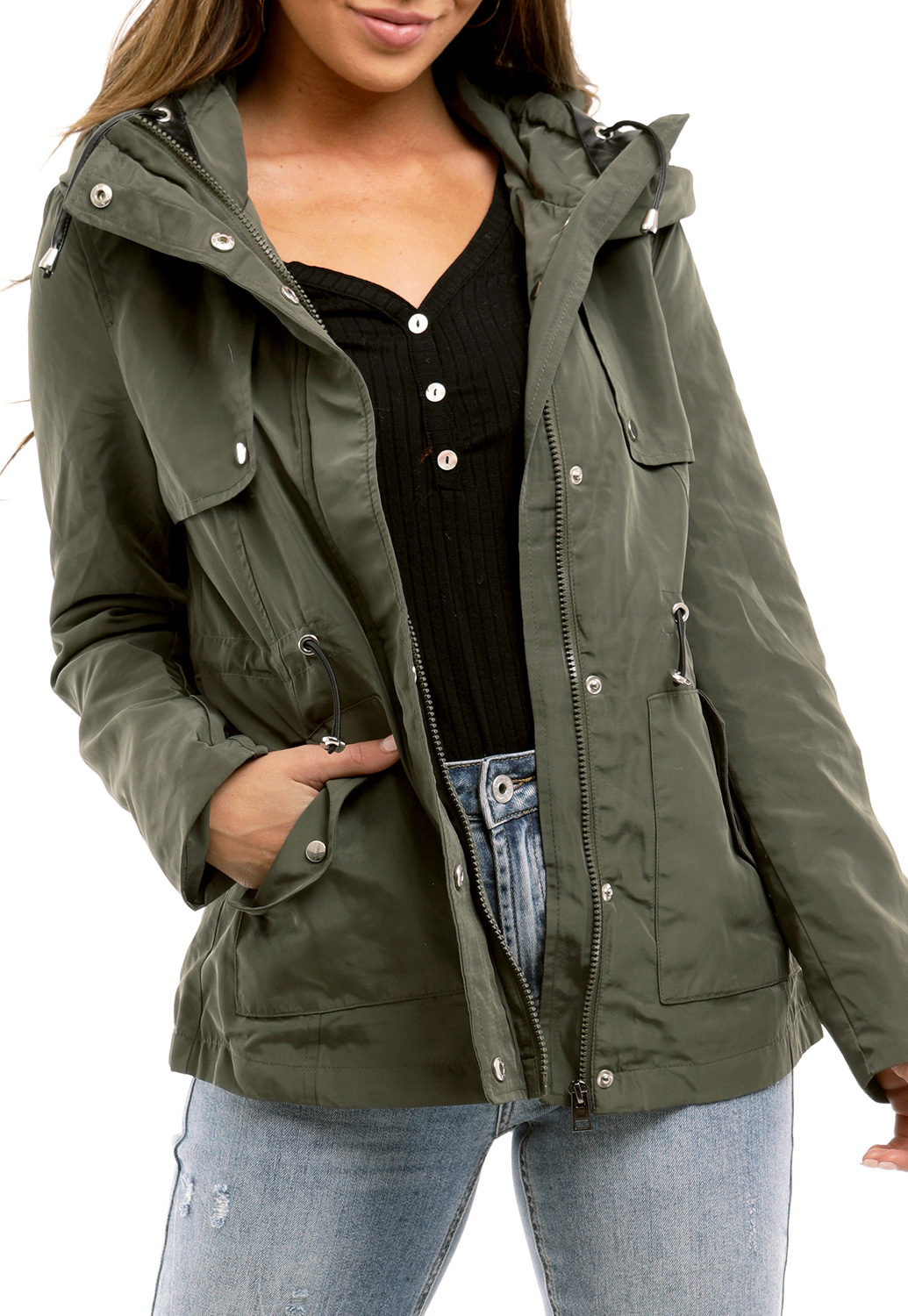 Zip Up Utility Jacket